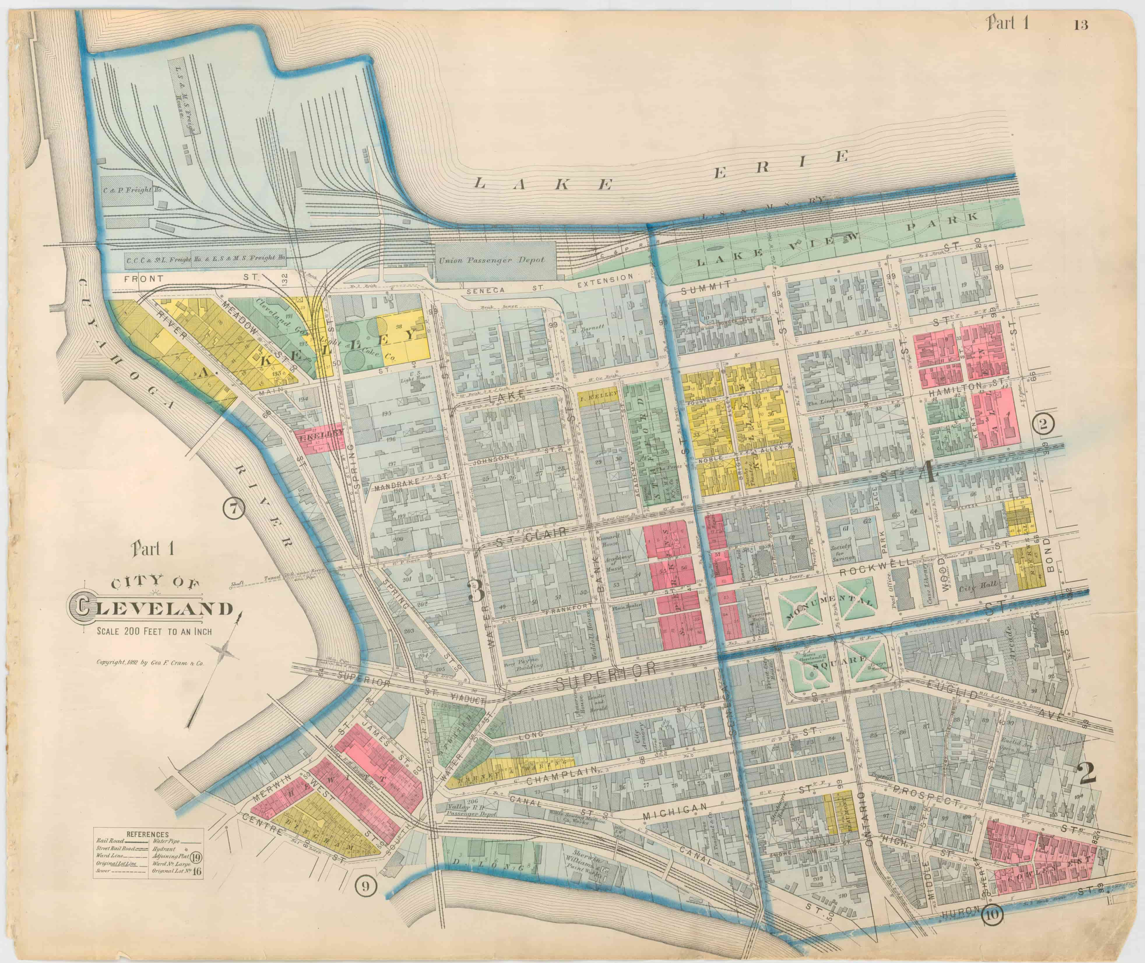 Old Cleveland Map